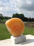 Orange Onyx Fossil by LUCY UNWIN, Sculpture, Onyx