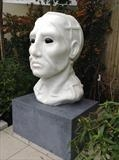 Prometheus by LUCY UNWIN, Sculpture, Carrara Marble on Kilkenny limestone base