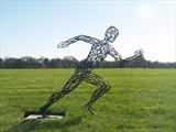 Sprint (First of Three figures) by LUCY UNWIN, Sculpture, Steel