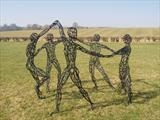 The Dance (After Matisse) by LUCY UNWIN, Sculpture, Steel