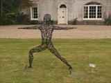 The Warrior by LUCY UNWIN, Sculpture, Galvernized, Powdercoated Steel